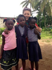 Stephanie and girls Haiti